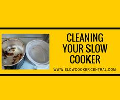 Cleaning your slow cooker - inside the bowl and the main casing - we've got all you need to know on cleaning yours back to like new :)