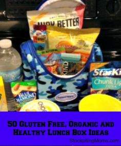 50 Gluten Free, Organic & Healthy Lunchbox Ideas to help you pack a better lunch this school year (great list for kids and adults)