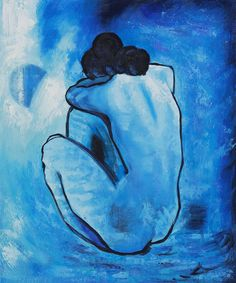 Blue Nude painting is one of Pablo Picasso's early masterpieces. It was created in 1902 at a time when Pablo Picasso was still mourning over a friend's tragic death. Pablo Picasso, Kunst Picasso, Picasso Blue, Picasso Art, Picasso Paintings, Henri Matisse, Painting & Drawing, Life Drawing, Blue Painting