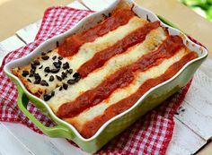 Fourth of July lasagna makes a fun Independence Day entree (from She Knows)