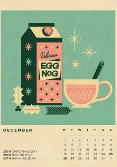 Illustrated Calendar 2016 Seasonal Refreshments is part of Food illustration design - tele… Boxing Day, Retro Christmas, Christmas Art, Xmas, Christmas Graphic Design, Christmas Illustration Design, Kalender Design, Kids Calendar, Food Calendar