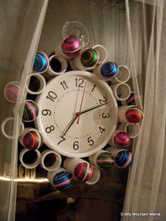 Walmart clock! (added PVC magic!)