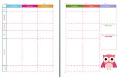 5-Day Lesson Plan Template ~ Free