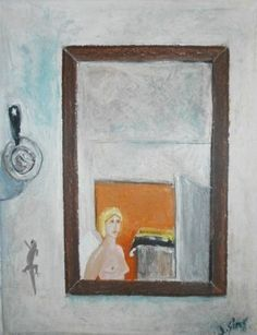 'angel in my room cyprus', 2010 by John Sims - Pastel Oil.