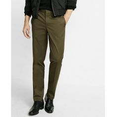 Express Slim Fit Dark Olive Stretch Cotton Photographer Dress Pant ($49) ❤ liked on Polyvore featuring men's fashion, men's clothing, men's pants, men's dress pants, green, mens slim fit dress pants, express mens dress pants, express mens pants, mens zip off pants and mens slim dress pants