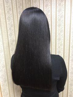 Long Silky Hair, Long Black Hair, Long Hair Cuts, Straight Weave, Straight Wigs, Shoulder Haircut, Blunt Hair, Natural Hair Styles, Long Hair Styles