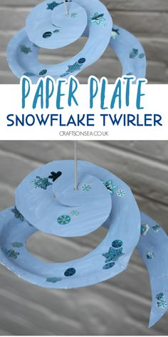 This easy snowflake craft from kids is made with a paper plate and is great for practicing scissor skills.