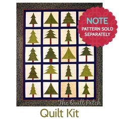 "This quilt kit for ""Spring into Christmas"" by Happy Stash Quilts is available at The Quilt Patch in Tecumseh, Mich."