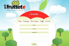 32 Unique E-mail Contact Forms in Website Layouts - restaurant fruit web design gallery layout