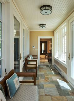 Foreside Cottage - beach-style - Hall - Portland Maine - Wright-Ryan Homes