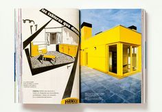 Vivix exterior panels featured in the Formica Forever Aniversary Book designed by Abbot Miller & Pentagram http://buzz.mw/ba7fv_n #exteriordesign #architecture #yellow