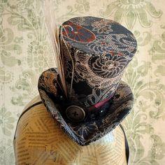 Victorian Mini Top HatMad Hatter Mini Top by BizarreNoir on Etsy