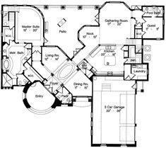 Luxury House Plans With Secret Rooms Home Design And Style Electrical Plan, I Love House, Mountain House Plans, Building Section, Curved Walls, Italian Home, Secret Rooms, Architectural Design House Plans, In Law Suite