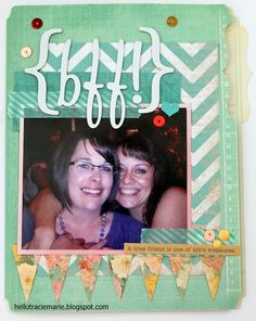 Hello!!! My name is Tracie Marie - Heidi Swapp birthday card, memory files. sugar chic