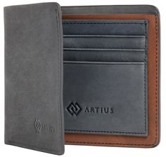Shop Artius Luxury Wallet For Men, Bifold, Made From Super-Smooth Nubuck Leather (Navy Blue & Tan) at Amazon Men's Clothing Store. http://www.amazon.com/Artius-Luxury-Wallet-Super-Smooth-Leather/dp/B00O92O4UM/ie=UTF8?m=A25RC64GK37EMQ&keywords=bifold+wallet