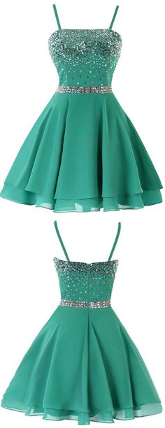 Green Homecoming Dresses, Short Homecoming Dresses, A-line/Princess Homecoming Dresses, Backless Homecoming Dresses, Sleeveless Homecoming Dresses, Straps Homecoming Dresses, Sequin Homecoming Dresses, Mini Homecoming Dresses, Homecoming Dresses 2017, Cheap Homecoming Dress
