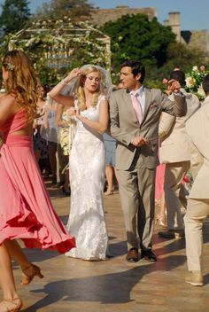 """ABC Family """"Lovestruck: The Musical"""" Floral by Allison McGeary Florist, Inc Sara Paxton, Chelsea Kane, Abc Family, Wedding Film, Bridesmaid Dresses, Wedding Dresses, Movies And Tv Shows, Movie Tv, Musicals"""