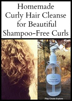 Homemade Curly Hair Cleanse for Shampoo Free Curls- my hair is to dry for this but I love baking soda instead of shampoo