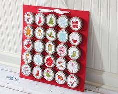 Christmas Advent Calendar with Magnet Board by MooreMagnets, $78.00