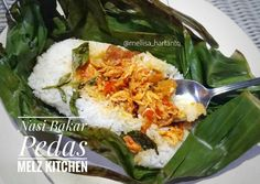Nasi Bakar Pedas foto resep utama Nasi Liwet, Nasi Bakar, Rice Recipes, Asian Recipes, Cooking Recipes, Ethnic Recipes, Cooking Food, Food N, Food And Drink