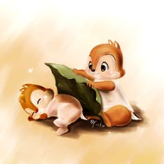 Chip N' Dale (every time I see their name I just want to burst into the rescue rangers theme song)