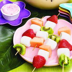Owocowe szaszłyki: #truskawka, #banan, #kiwi, #mango
