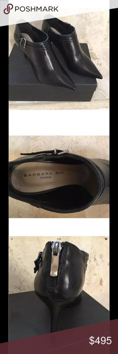 BARBARA BUI NIB BLACK ANKLE BOOT SIZE 38 BARBARA BUI NIB BLACK ANKLE BOOT SIZE 38  Composition: Soft Leather Details: leather, silver buckle, zip closure, narrow toeline, leather lining, leather sole, stiletto heel, Measurements: Heel height 3.12 inches barbara bui Shoes Ankle Boots & Booties