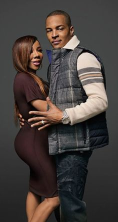 """Rumor Mill: Tameka """"Tiny"""" Harris Maybe Be Pregnant! If This Is So Congrats Harris Family! Black Celebrity Couples, Black Couples, Couples In Love, Power Couples, Black Celebrities, Beautiful Celebrities, Celebs, Beautiful Couple, Black Is Beautiful"""