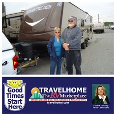 Congratulations to Pat & Pete on the purchase of their Traveler 24BH from Sandra! #rving #camping #summervacation #travel