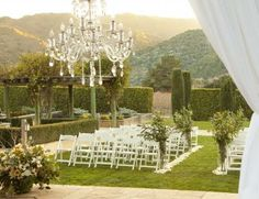 Find out if that chandelier comes with this site- Bernardus Lodge & Spa-Carmel CA