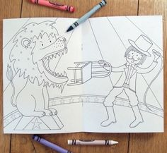 Our circus-themed colouring book. £6.00