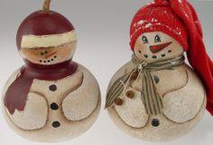 Gourd Snowmen by Linda Noblitt
