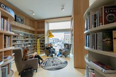 School 7 in Den Helder was proclaimed Public Library of the Year 2018 at the IFLA congress. Two words: Social sustainability. Library Association, Wooden Staircases, Co Design, New Living Room, Old And New, The Neighbourhood, Bookcase, Public, Facts