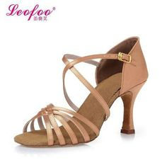 Women's Dance Shoes Latin dance shoes Party shoes Heels Chunky Heel 8 Color of skin satin Factory direct sale AliExpress Affiliate's Pin. Click the image to find out more on AliExpress website Latin Dance Shoes, Ballroom Dance Shoes, Dance Pants, Girl Dancing, Party Shoes, Dance Outfits, Types Of Shoes, Chunky Heels, Shoes Heels