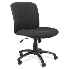 Safco Big & Tall Executive Mid-Back Chair - Polyester Seat