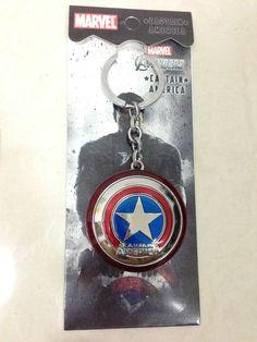 Avengers Marvel Super Heroes - Captain America Shield Metal Keychain Key Ring on Etsy, $6.99