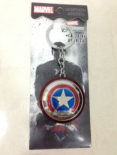 Avengers Marvel Super Heroes - Captain America Shield Metal Keychain Key Ring on Etsy, $6.99