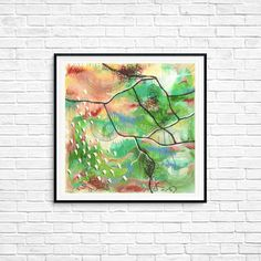 Green Forest Abstract art Colorful Modern Contemporary Square Poster Print Wall art Room decor Gift Line art Modern Abstract print Wall Art Prints, Fine Art Prints, Poster Prints, Abstract Print, Line Art, Modern Contemporary, I Shop, Room Decor, Colorful