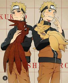 The two sides of the kyuubi   And Naruto