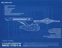 USS Enterprise NCC 1701 A Side View