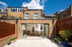 Brick flat roof extension with parapet Brick Extension, Building Extension, House Extension Design, Extension Ideas, Extension Google, Side Extension, House Design, Sell House Fast, House Extensions
