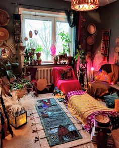 Modern bohemian home decor hippy bedroom, home decor styles, hippie boho,. Room Ideas Bedroom, Bedroom Decor, Bed Room, Hippy Bedroom, Room Decor For Teen Girls, Boho Chic Living Room, Bohemian Living, Bohemian Interior, Modern Bohemian