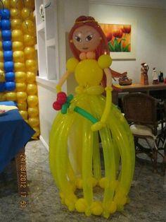 Esculturas de balões- Princesa Bela