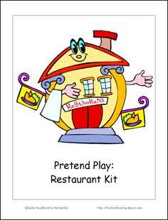 pretend play kit - restaurant