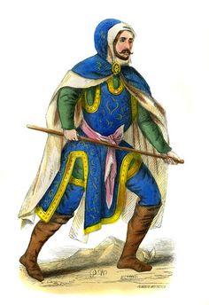 """German military costume - 15th century"""