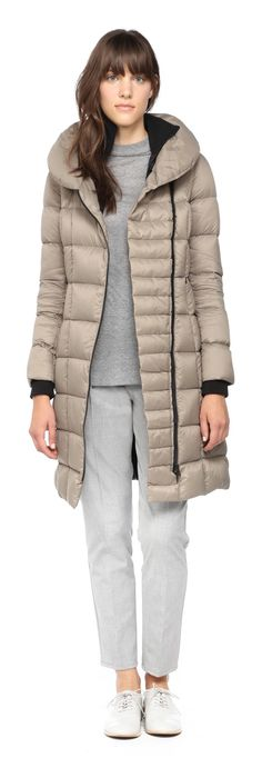 SOIA & KYO - MAY TAUPE LIGHT DOWN JACKET FOR WOMEN WITH LARGE COLLAR…