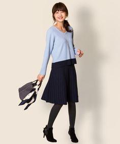 【洗える】イタリーミラノリブニット スカート / any SiS 【公式通販】オンワード・クローゼット