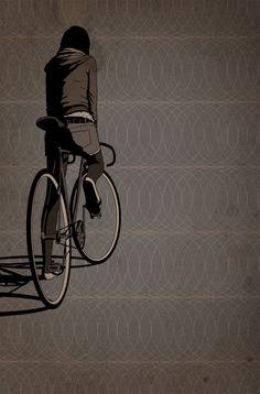 FFFFixas – Illustraties van fixed gear fietsen Fixed Gear Bikes, Fixed Bike, Cycling Art, Cycling Bikes, Urban Cycling, Bicycle Illustration, Illustration Art, Arte Punk, Bicycle Art