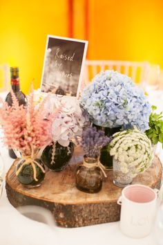 Welcome table at wedding reception romantic hydrangea fllowers and Reception, and Summer, Styles, Wedding Flowers Vintage Centerpieces, Wedding Centerpieces, Wedding Table, Wedding Reception, Centrepieces, Centrepiece Ideas, Spring Wedding Flowers, Bridal Flowers, Wedding Flower Inspiration