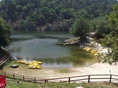 Playa Fluvial a Cova. Saviñao. Lugo